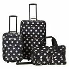 3 Piece Luggage Set Upright Expandable Suitcase Carry On Tot