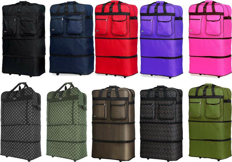 "30"" / 36"" / 40"", Expandable Rolling Duffel Bag Wheeled Spinn"