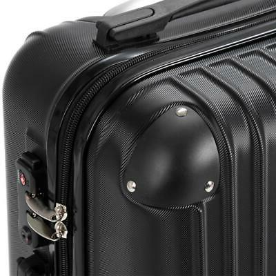 3Pcs Travel Trolley Spinner Suitcase Truely TSA Lock