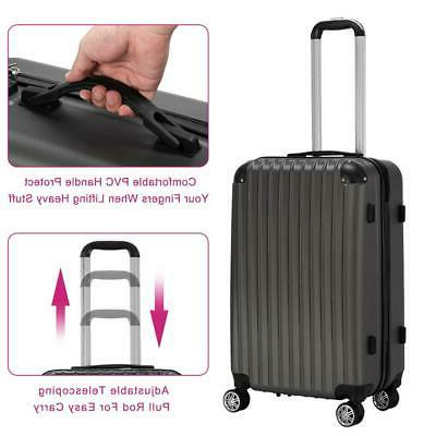 3Pcs Trolley Suitcase Truely