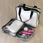 3Pcs Travel Portable Waterproof Zipper Plastic PVC Clear Tra