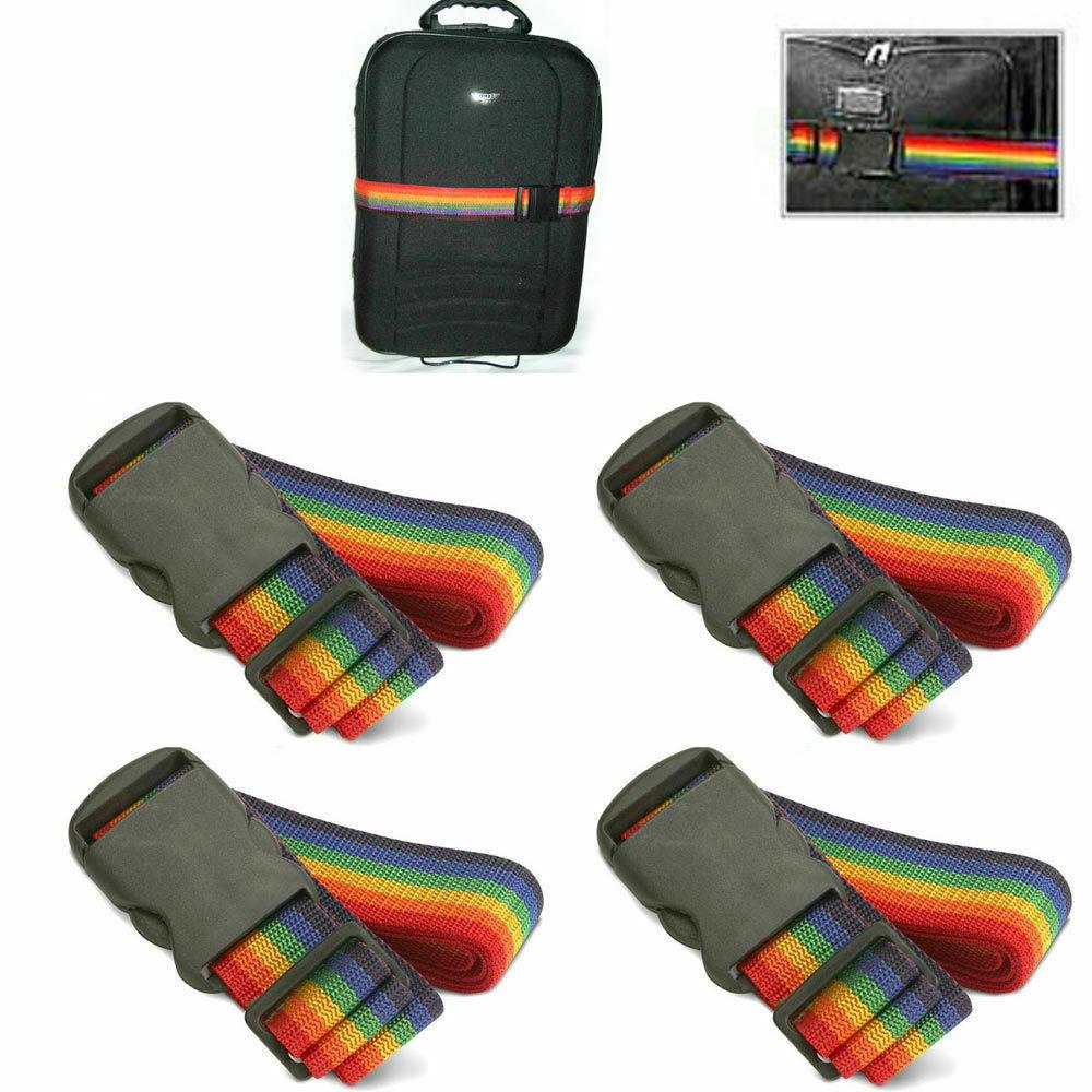 4 luggage suitcase strap baggage