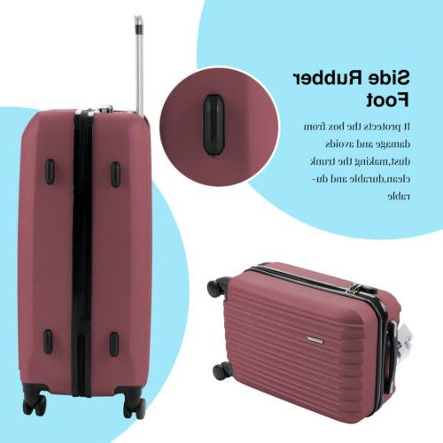 """4PCS Luggage Travel ABS Spinner Bag w/ 16"""" 20"""" 24"""" 28"""""""