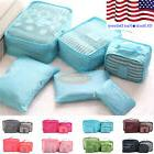 6PCS/Set Waterproof Luggage Clothing Travel Storage Bags Pac
