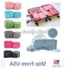 6 Pcs Waterproof Clothes Storage Bags Packing Cube Travel Lu