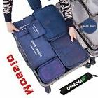 Mossio 7 Set Packing Cubes with Shoe Bag - Compression Trave