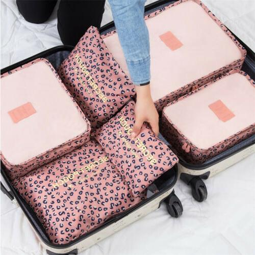 7Pcs Travel Storage Bag Waterproof Clothes Packing Cube Lugg