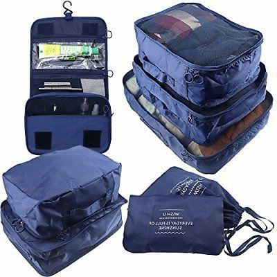 Arxus 8 Set Travel Waterproof Packing Organizers Cubes with