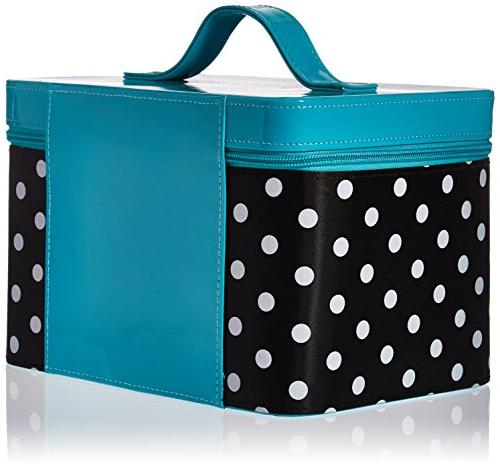 Caboodles Gilded Valet with Dots, Black, 2.36