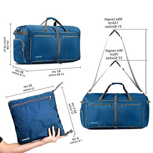 Gonex Foldable Travel Duffel Luggage Gym Travel Bag with Big Capacity, Water Repellent