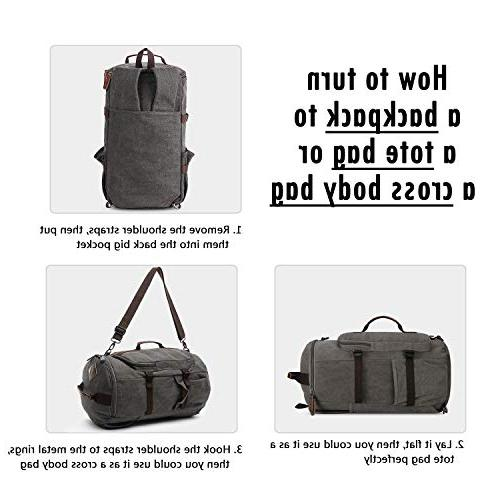 Large Backpack, Outdoor Traveling Duffel Bag Classic Travel Functional School Grey