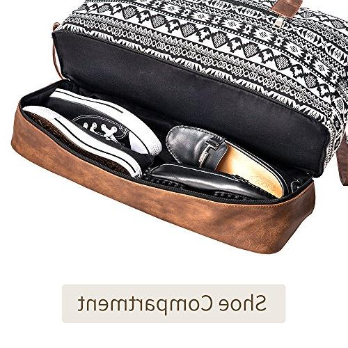 MyMealivos Canvas Bag, Duffel Tote with Pouch