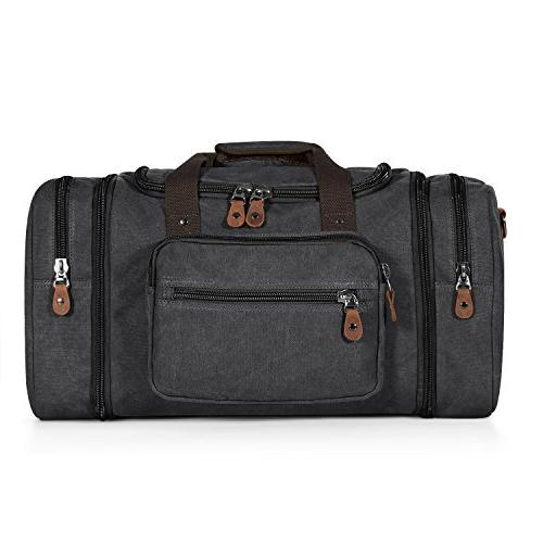 Plambag Canvas Duffle for Travel, Overnight Weekend