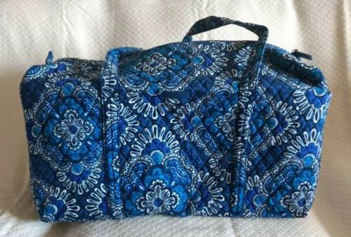 VERA BRADLEY Large Duffel CARIBBEAN SEA Luggage Travel Bag B