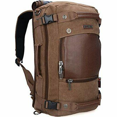 WITZMAN Men Travel Backpack Canvas Rucksack Vintage Duffel B