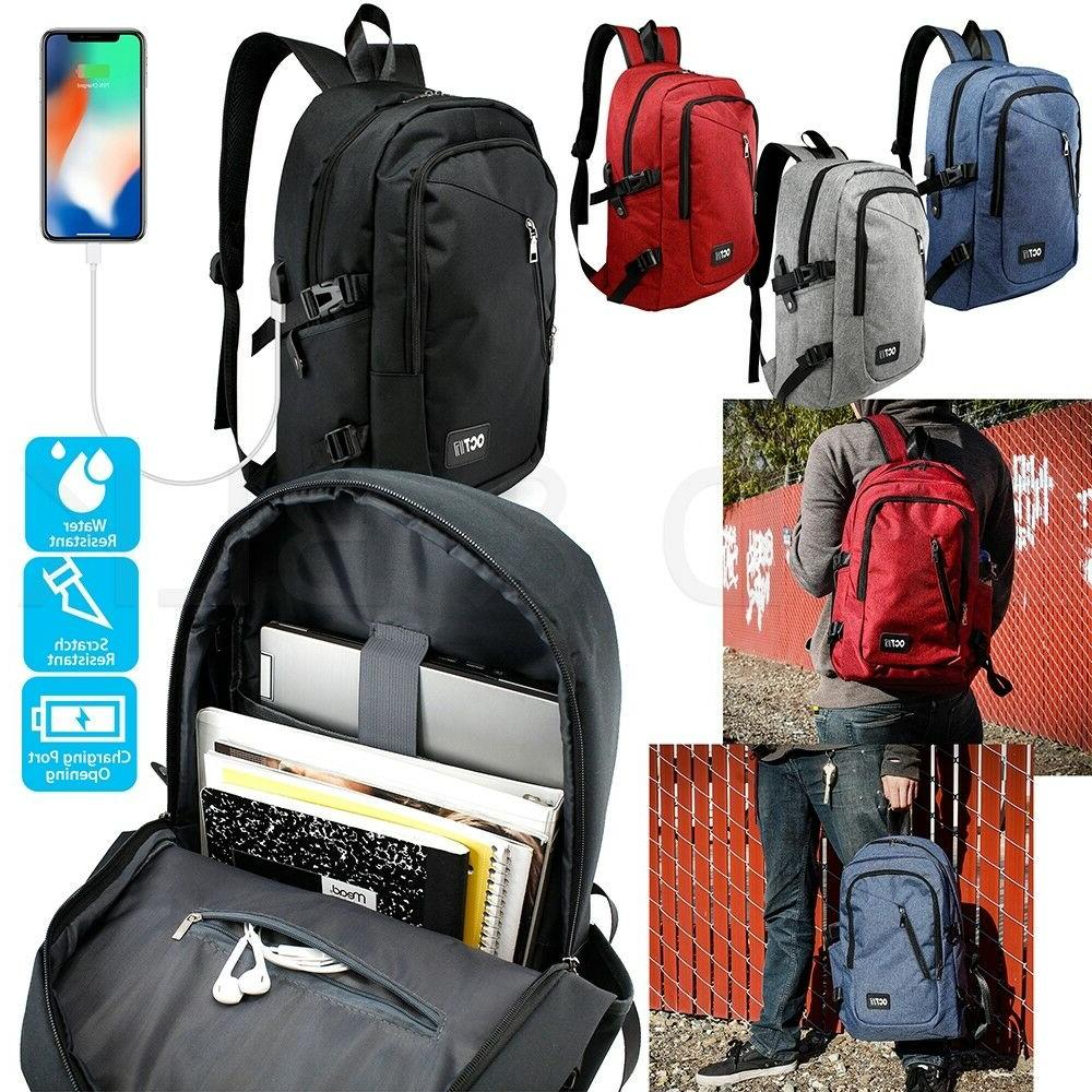 anti theft mens womens usb charging backpack