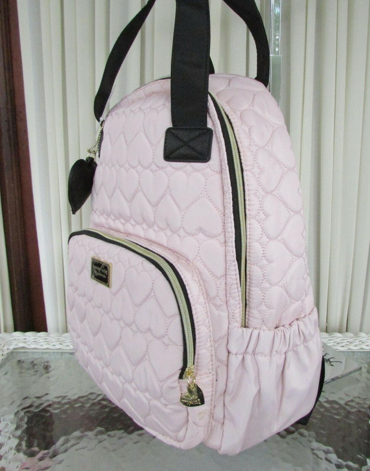 Betsey Johnson Backpack in School Hearts NWT