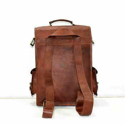 "Bag Vintage Travel 17"" Leather Handmade"