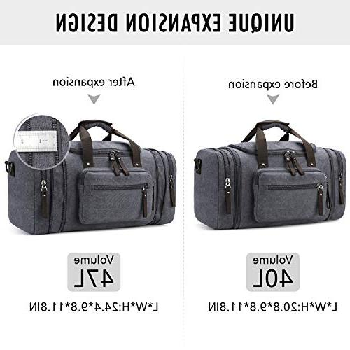 Toupons Canvas Small Carry-on Bag Weekender Men
