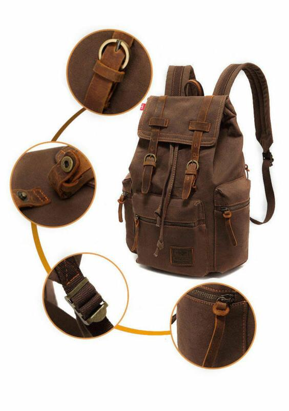 Canvas Camping Satchel Hiking Backpack
