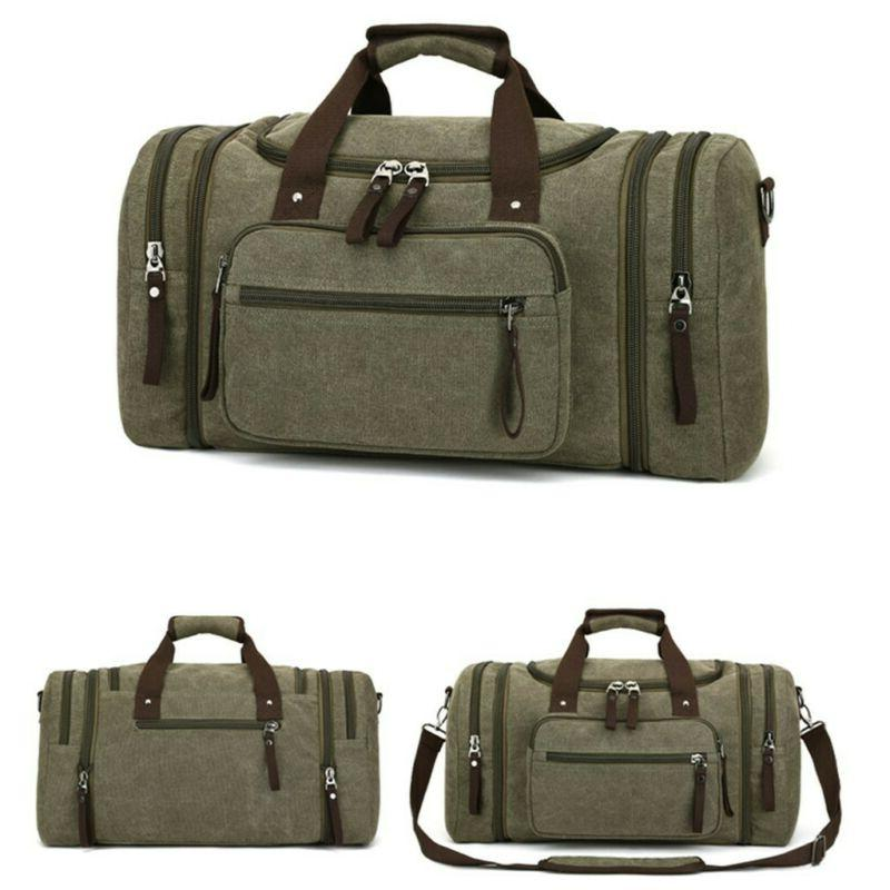 Canvas Large Gym Shoulder Bag & Strap