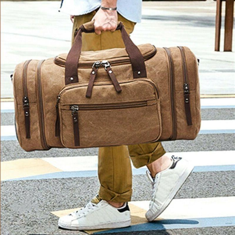 Canvas Luggage Large Men's Shoulder & Strap