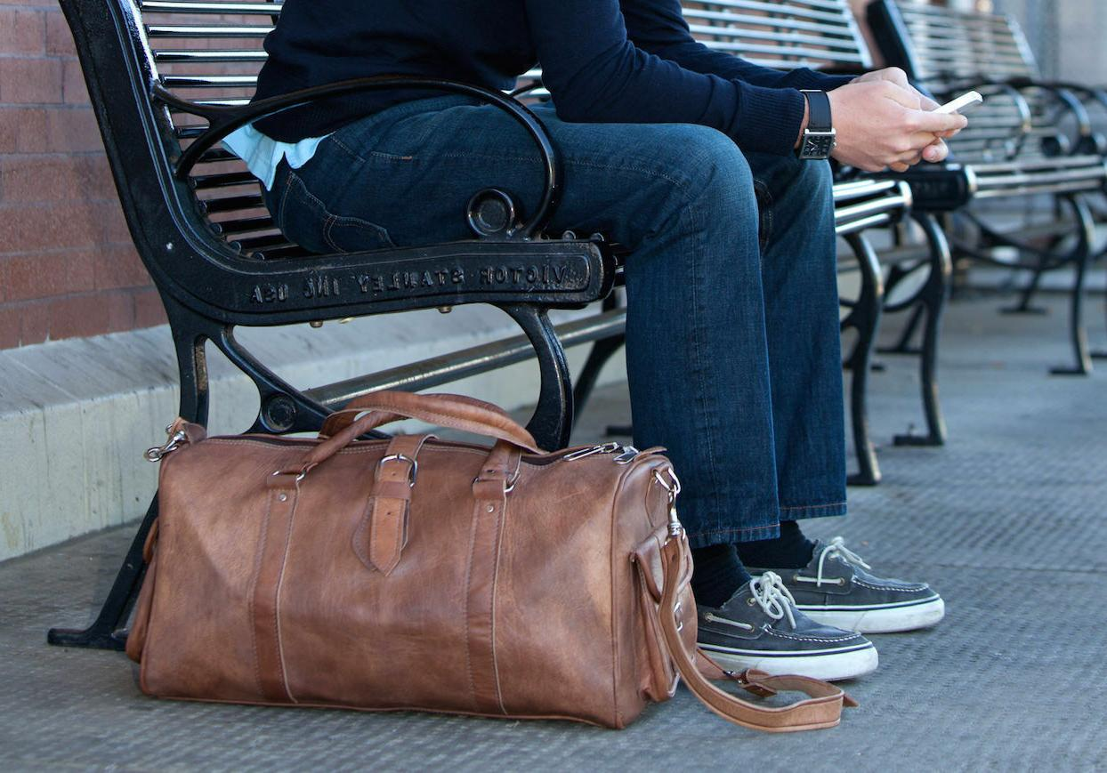 Carry On Duffel Travel Bag Holdall Leather