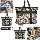LeSportsac Cat Cafe Large Travel Tote + Cosmetic Bag Colorfu