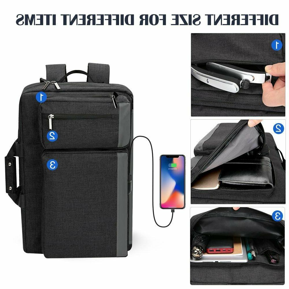 Convertible Laptop Backpack Business Travel Resistant