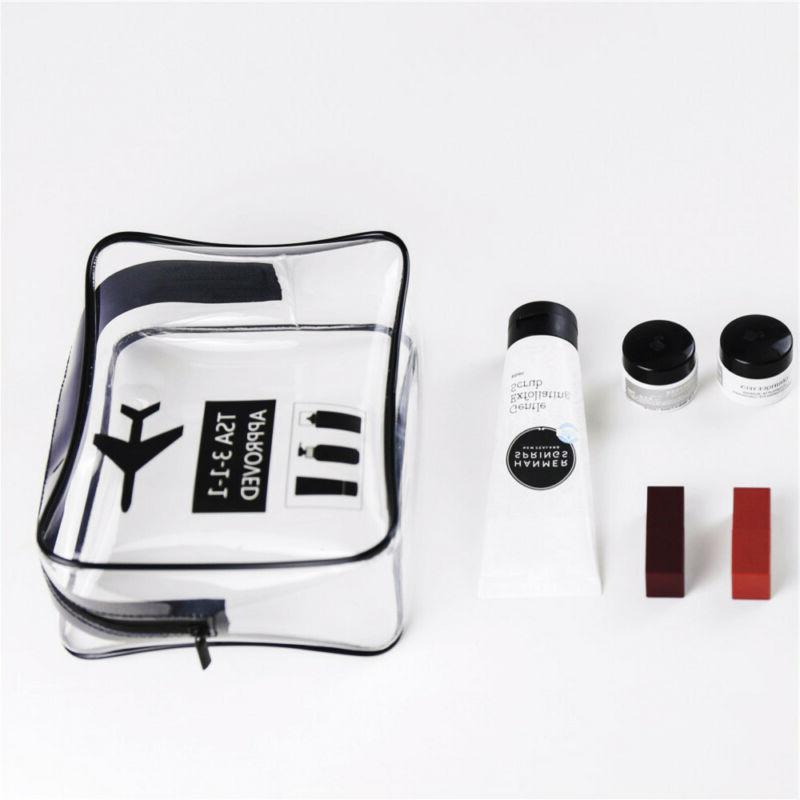 Cosmetic Makeup Toiletry Clear Travel Bag Pouch