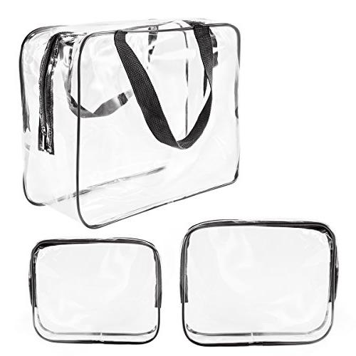 crystal clear pvc toiletry bag
