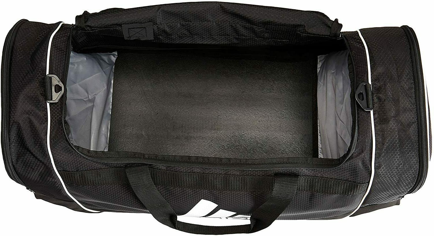 "ADIDAS DEFENSE 29"" DUFFEL BLACK SPORT TRAVEL VENT MESH ZIP"