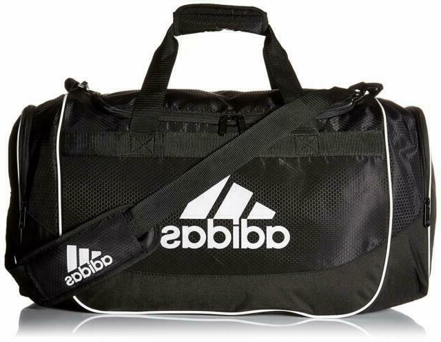 ADIDAS DEFENSE DUFFEL BLACK GYM SPORT TRAVEL VENT ZIP TOP $55