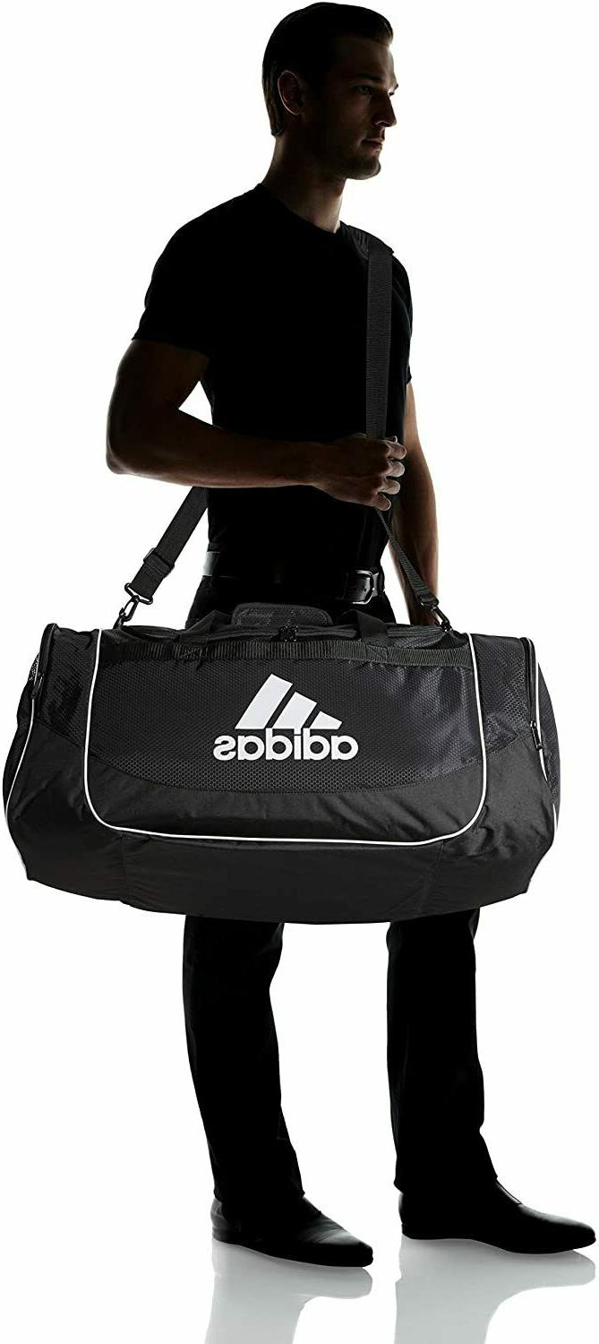 "ADIDAS LARGE 29"" DUFFEL BAG GYM SPORT VENT ZIP TOP $55"