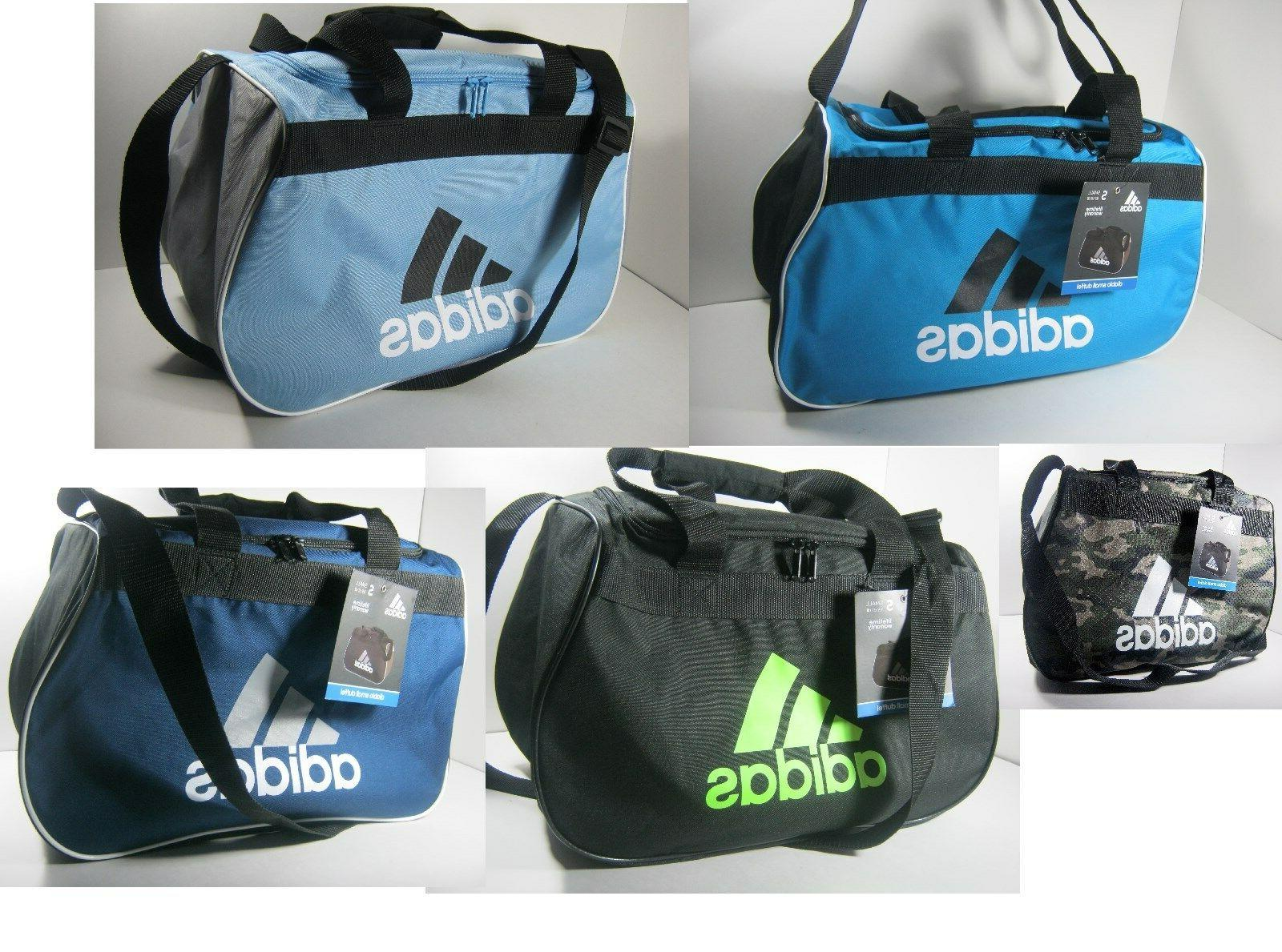 "Adidas Diablo Small Duffel Gym Bag Travel Camp 18.5""x 11"" x"