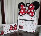 Disney Loungefly Minnie Mouse Letters Backpack & Wallet Set