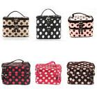 double layer travel toiletry cosmetic makeup bag