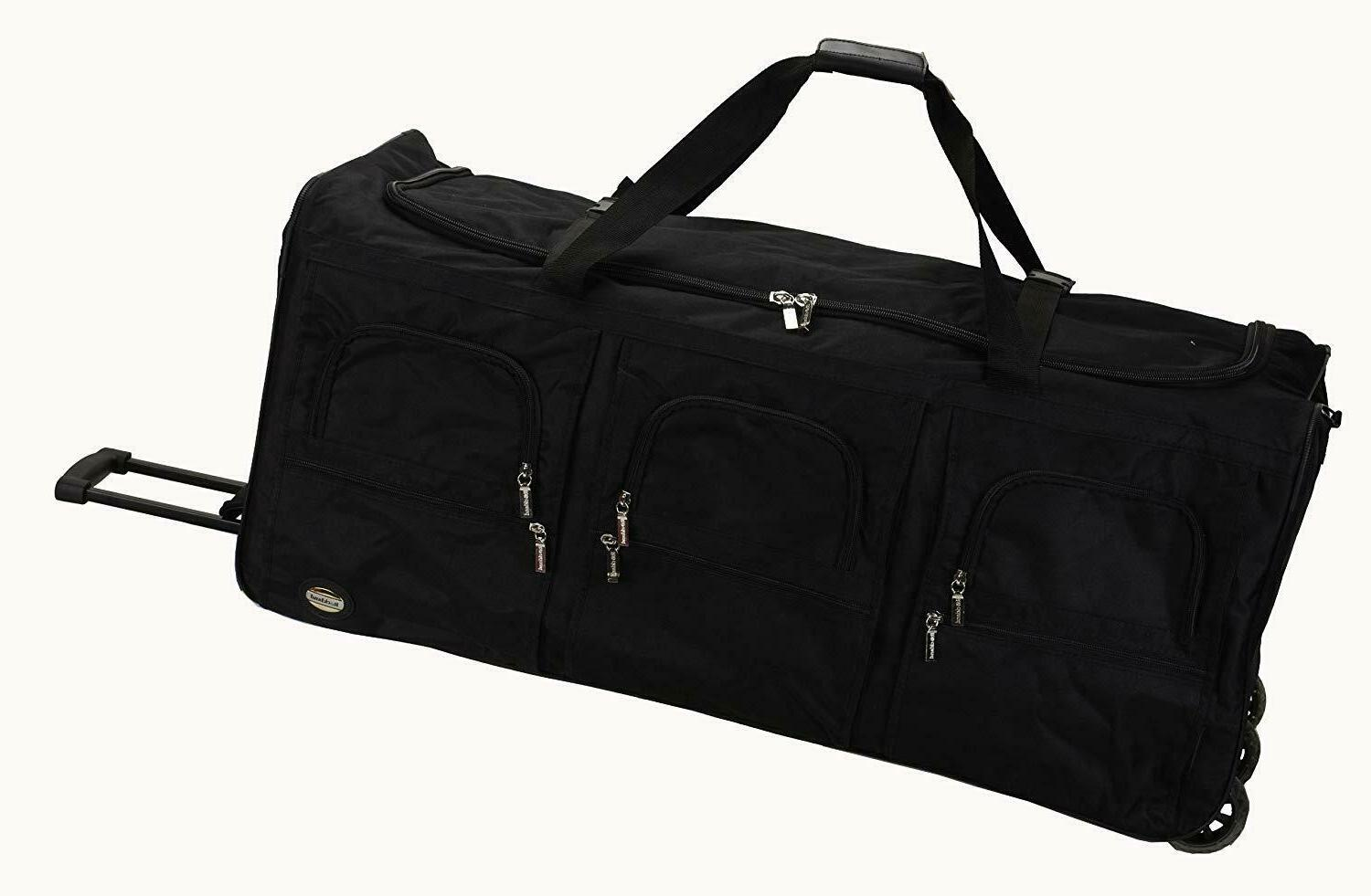 "Duffle Bag Luggage 40"" Rolling for Travel Unisex Adult Black"