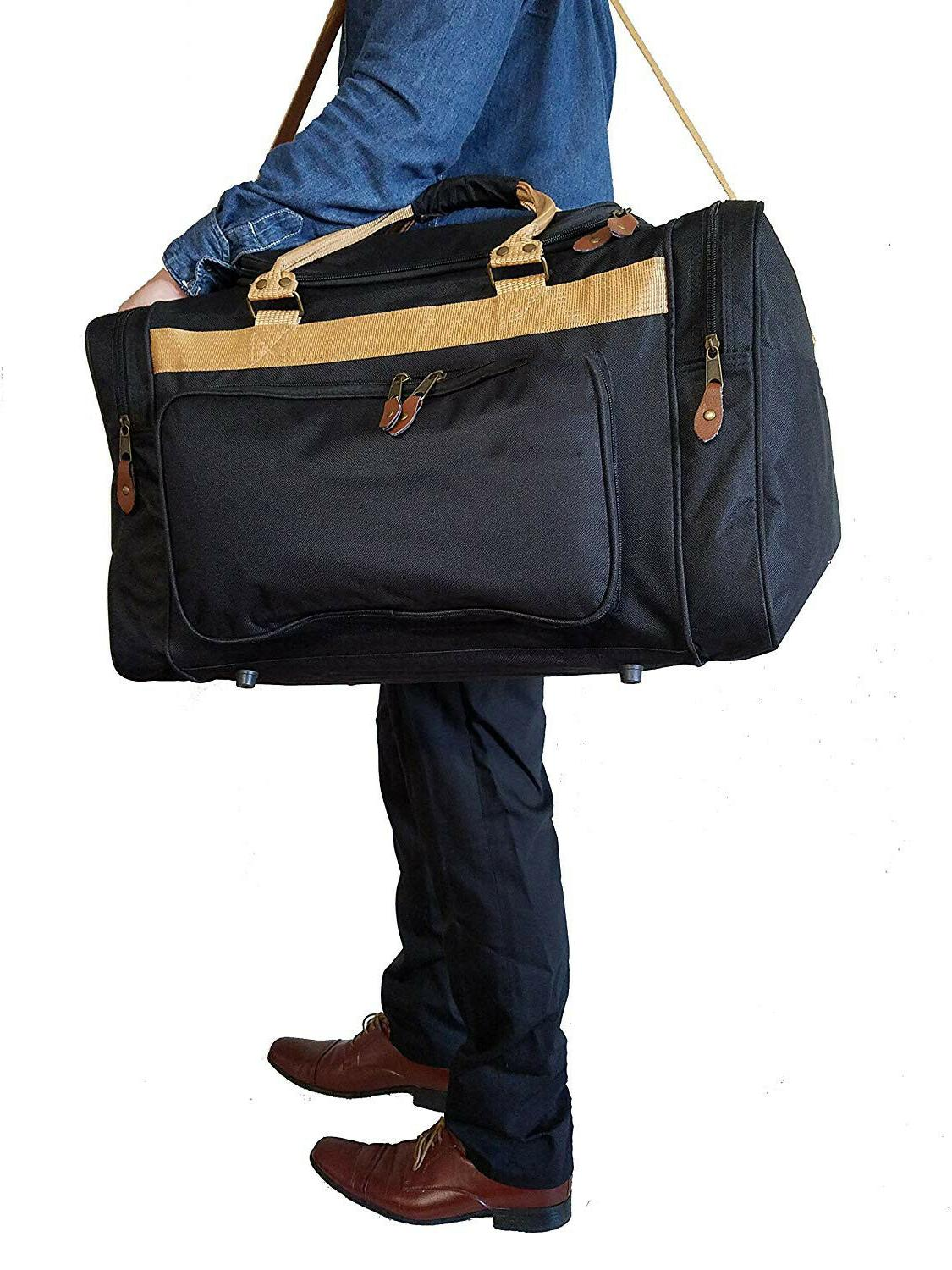 Duffle Bag Travel Carry-On Workout Red Black