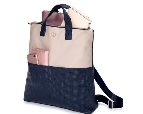 essential tote leatherette bag backpack purse