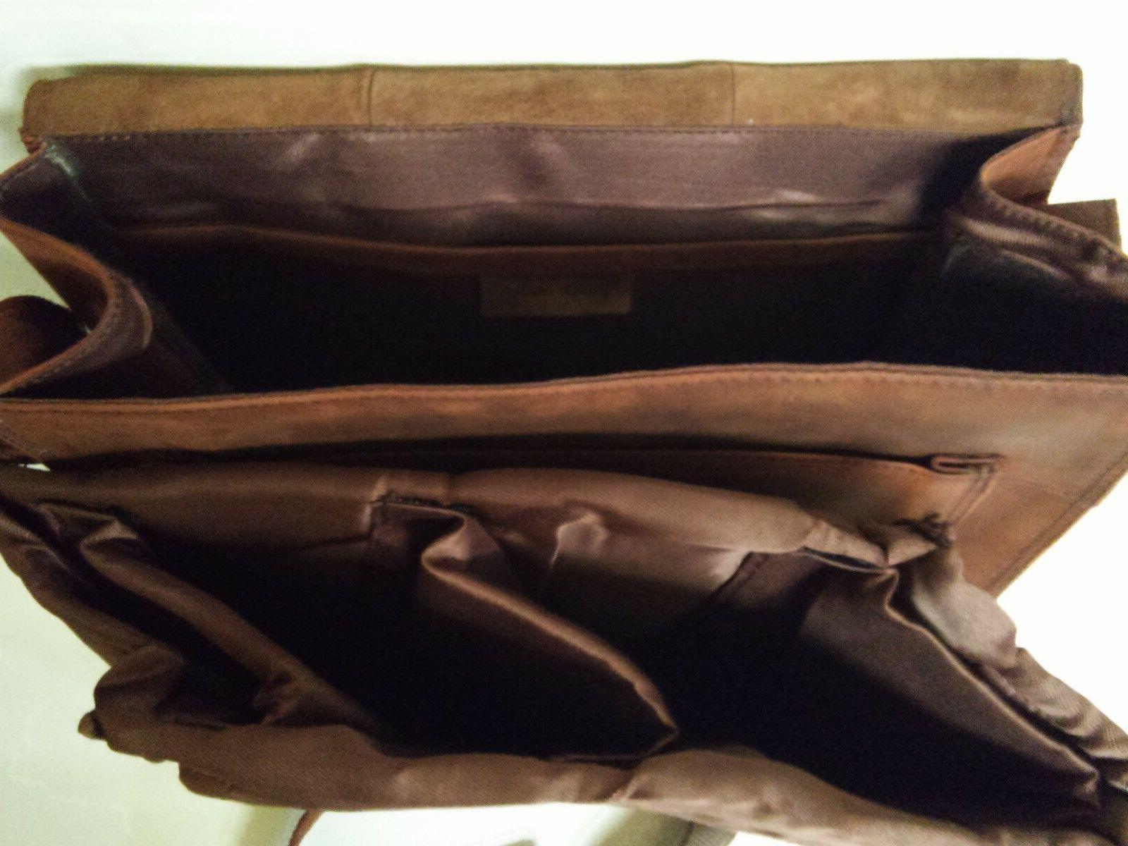 FeatherTouch Leather Camera DSLR Travel Camera Bag Inches Brown
