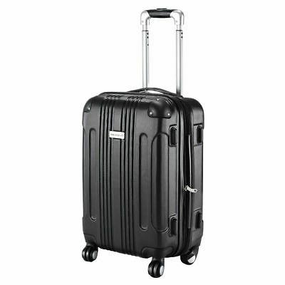 "GLOBALWAY Expandable 20"" ABS Carry On Luggage Travel Bag Tro"