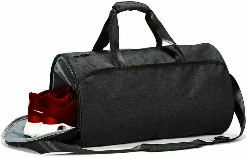 2x Bag Men Duffel with Shoes Compartment Pocket
