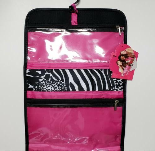 Caboodles Hanging Shower Makeup Toiletry Bag Zebra Printed