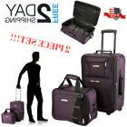 Heavy Duty Suitcase Set  Adults Wheels Rolling Luggage Tote
