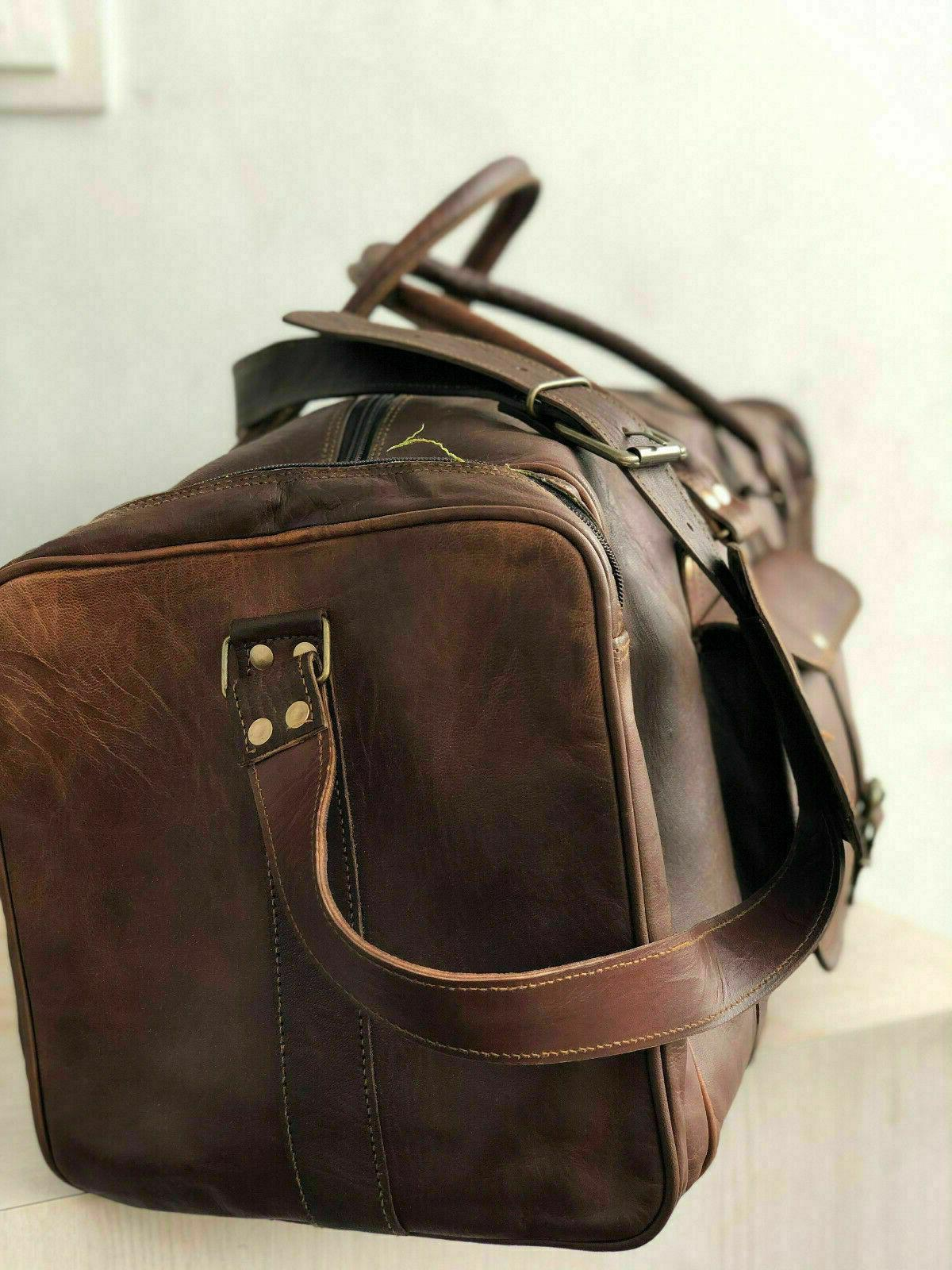 Holdall Weekend Travel Real Leather cabin New