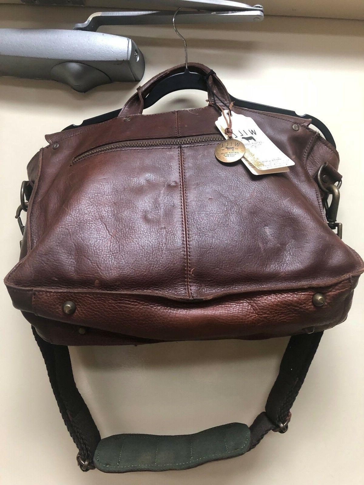 Will Leather Goods Messenger Bag/Travel Pillow Leather