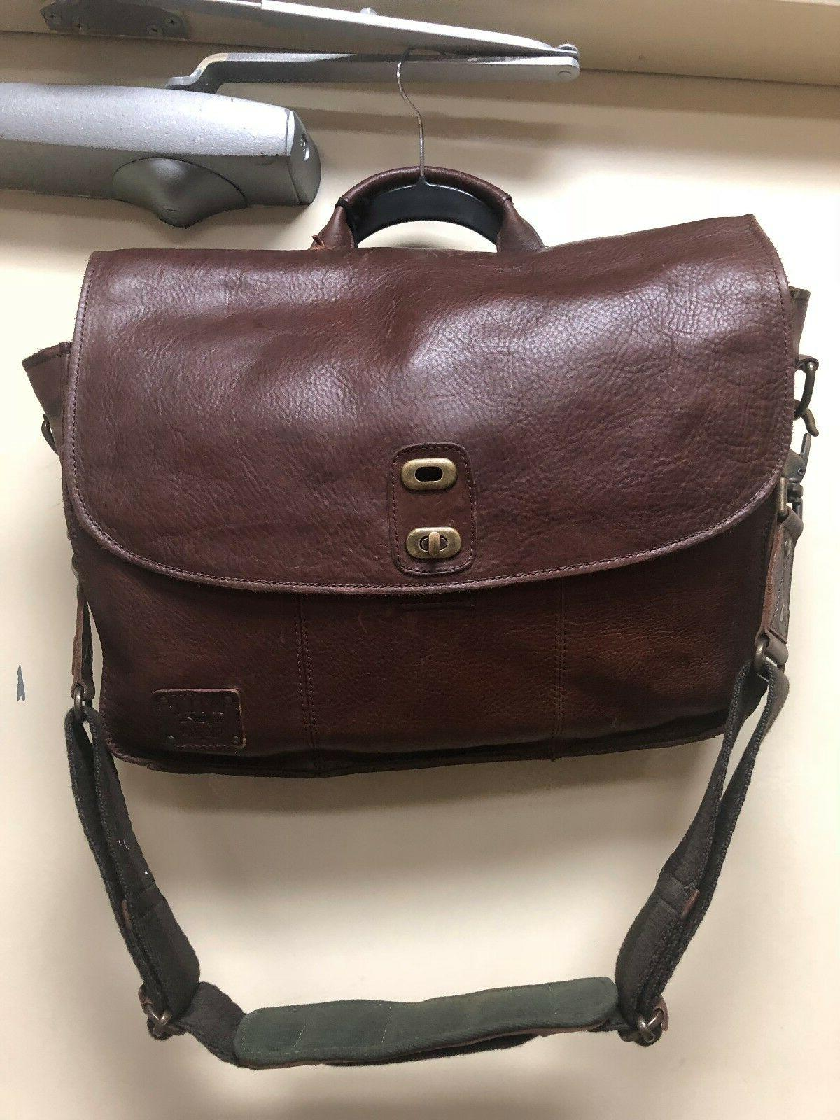 Will Leather Goods Kent Messenger Bag/Travel Pillow Brown Le