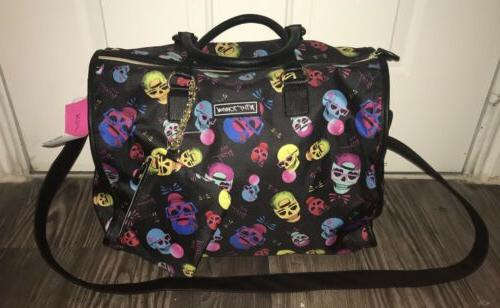 Betsey Johnson Nylon Duffle + Pouch Set