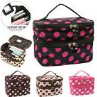 Ladies Large Travel Organizer Toiletry Cosmetic Make Up Hold